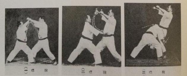 Sensei Funakoshi : bunkai bassai dai avec projection