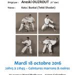 Stage avec Areski Ouzrout le 18 octobre 2016