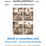 Stage avec Geoffrey Houzelle le 15 nov. 2016