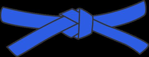ceinture bleue de karate