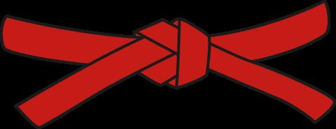 ceinture rouge de karate