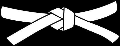 ceinture blanche de karate