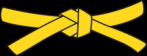 ceinture jaune de karate