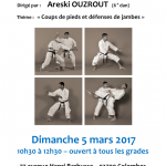 Stage avec Areski Ouzrout le 5 mars 2017
