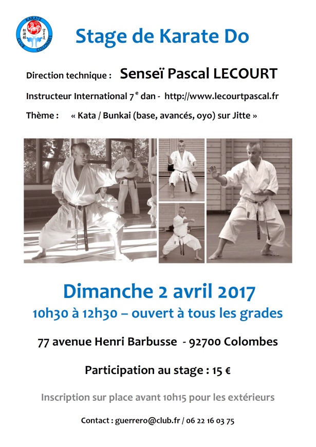 Etapas de la Karate-Pascal-Lecourt 04/02/2017