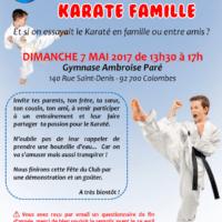 Karate Famille Affiche 2017 05 07
