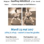 Stage avec Geoffrey Houzelle le 23 mai 2017