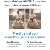 STAGE DE SELF DEFENSE Geoffrey Houzelle 2017 05 23