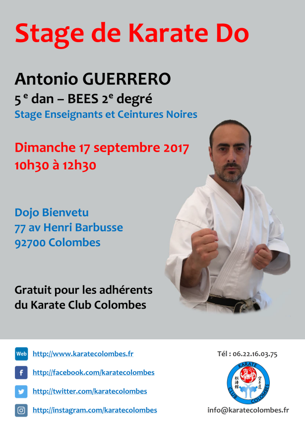 STAGE DE KARATE Antonio Guerrero 2017 09 17
