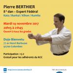 Stage avec Pierre Berthier le 14 nov. 2017