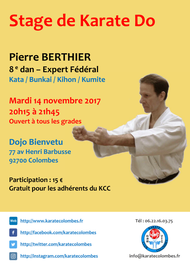 STAGE DE KARATE Pierre Berthier 2017 11 14