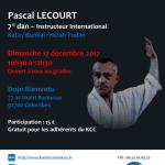 Stage avec Pascal Lecourt le 17 déc. 2017