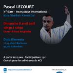 Stage avec Pascal Lecourt le 8 avr. 2018