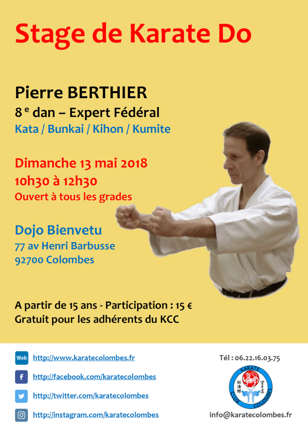 STAGE DE KARATE Pierre Berthier 2018 05 13