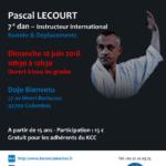 Stage avec Pascal Lecourt le 10 juin 2018