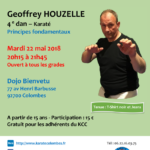 Stage avec Geoffrey Houzelle le 22 mai 2018
