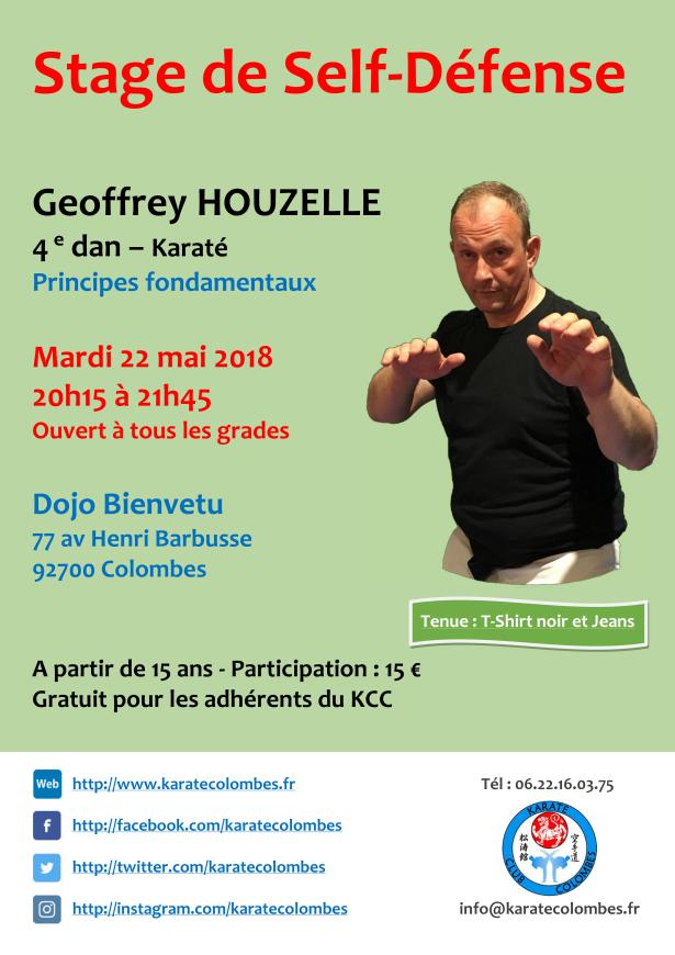 STAGE DE SELF DEFENSE Geoffrey Houzelle 2018 05 22