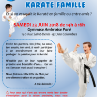 Karate Famille Affiche 2018 06 23