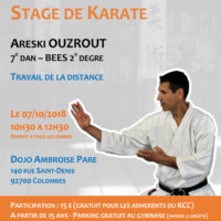 Stage Karate Areski Ouzrout 2018 10 07