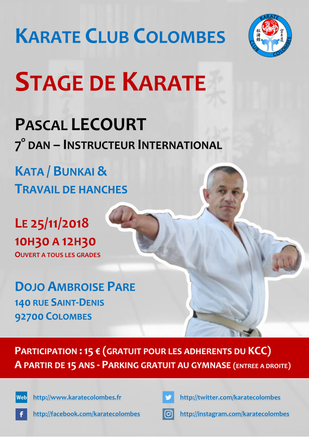 Stage Karate Pascal Lecourt 2018 11 25