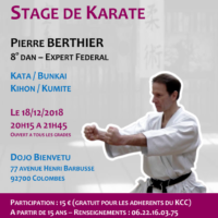 Stage Karate Pierre Berthier 2018 12 18