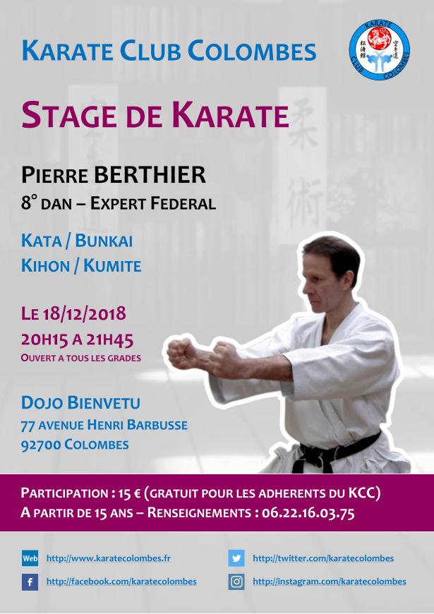 Stage Karate Pierre Berthier 2018 12 18