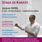 Stage avec Jacques Tapol le 19-02-2019