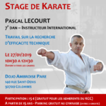 Stage avec Pascal Lecourt le 27-01-2019