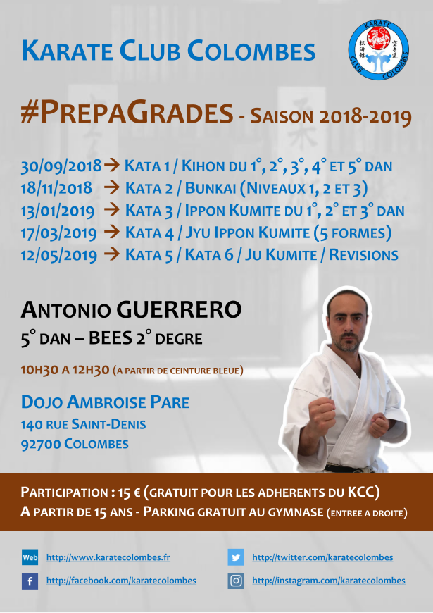 Programme Stages #PrepaGrades Saison 2018-2019