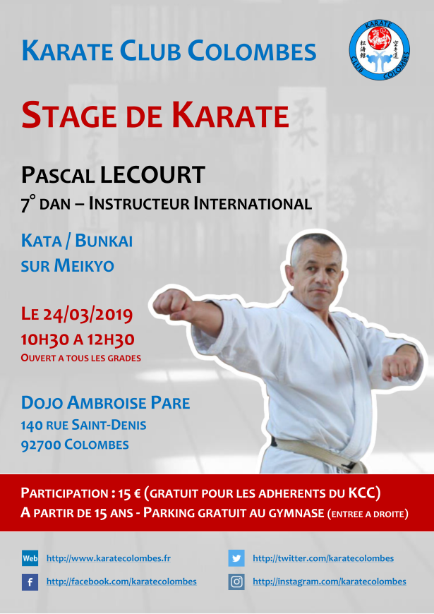 Stage Karate Pascal Lecourt 2019 03 24