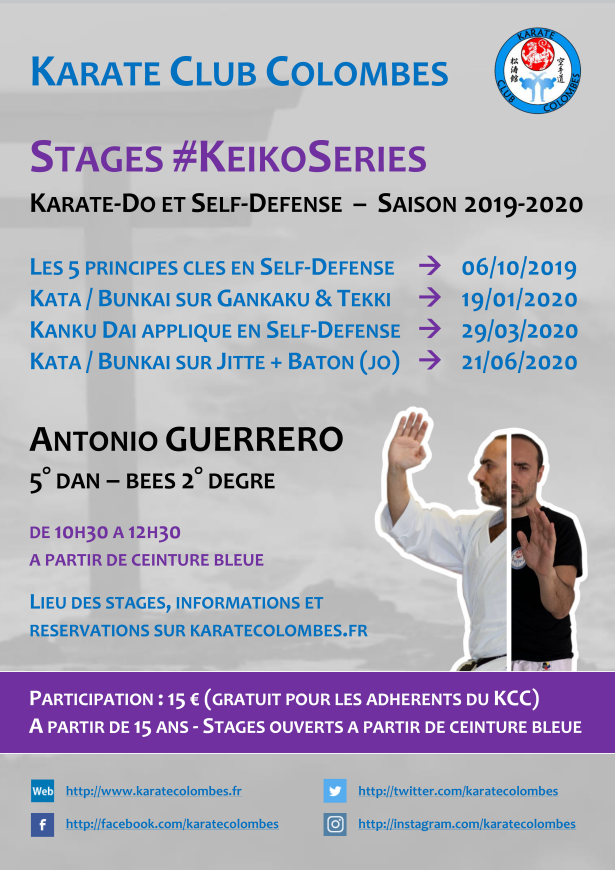 Programme Stages #KeikoSeries Saison 2019-2020