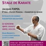 Stage avec Jacques Tapol le 15-10-2019