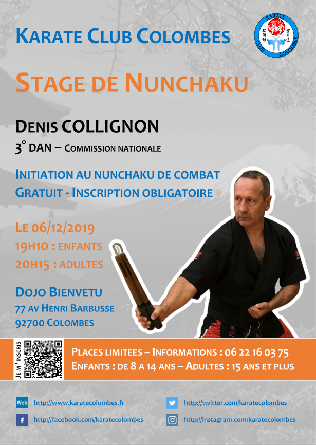 Stage Nunchaku avec Denis Collignon
