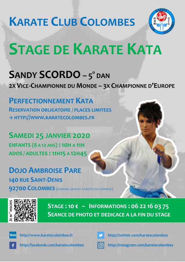 Stage Karate Kata avec Sandy Scordo