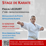 [Annulé] Stage avec Pascal Lecourt le 15-03-2020