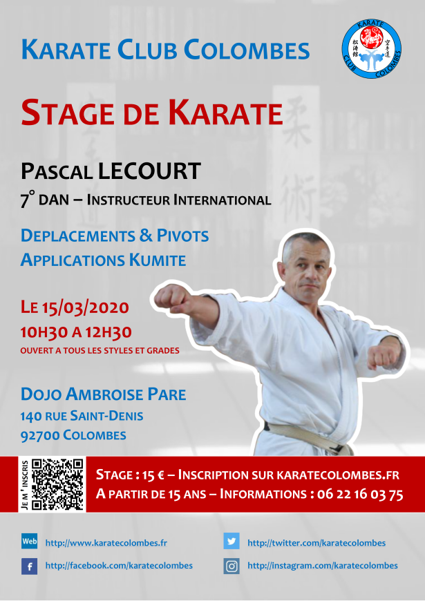 Stage Karate Pascal Lecourt