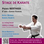 [Annulé] Stage avec Pierre Berthier le 21-04-2020