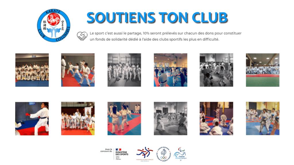 soutiens ton association - karate club colombes