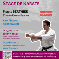 Stage Karate Pierre Berthier