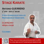 Stage Professeurs et Assistants le 30-05-2021