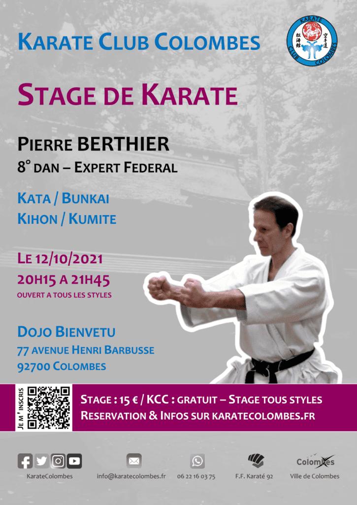 Stage Karate Pierre Berthier