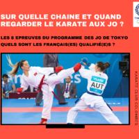 Karate TV Jeux Olympiques Tokyo